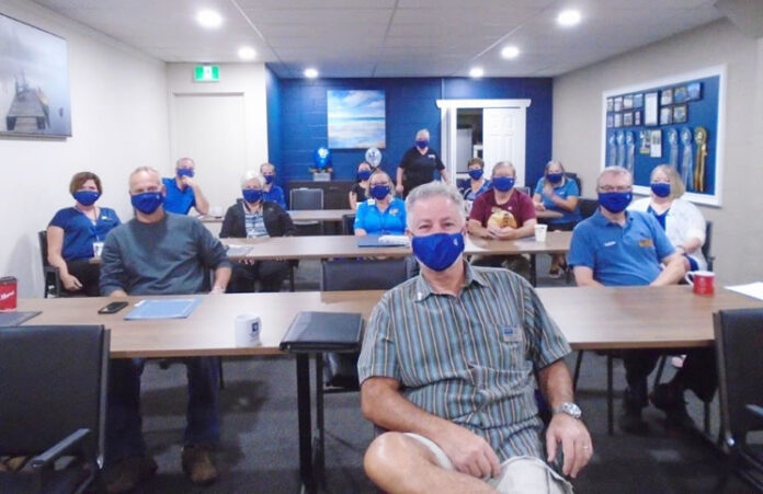 The team at Coldwell Banker Action Realty Plus in Simcoe, Ont. attending the virtual Generation Blue Experience.