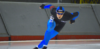 Trembinski trained to be an Olympic speed skater in Calgary.