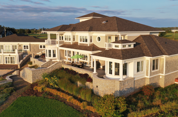 It took more than two years to build the residence.