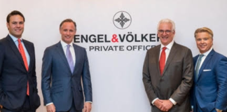 From left: Maximilian Stamm, head of business development of Private Office; Constantin von Dalwigk, global head of Private Office; Stuart Siegel, head of Private Office Americas; Anthony Hitt, president & CEO of Engel & Völkers Americas. (Photo: Tara Wujcik Photography)
