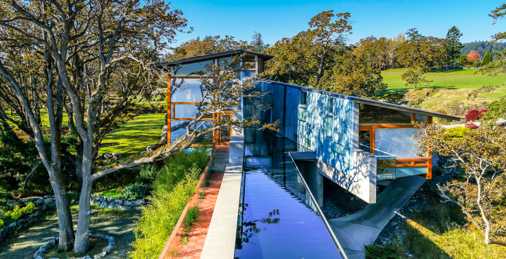 The house is a 300-foot-long structure that took three years to build. (Photo courtesy of Sotheby's International Realty Canada)