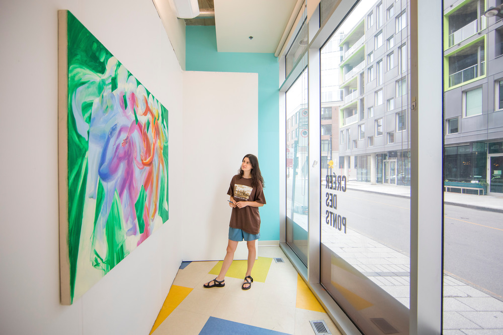 The project is an alliance between the downtown commercial real estate community and Montreal's vibrant visual arts scene.