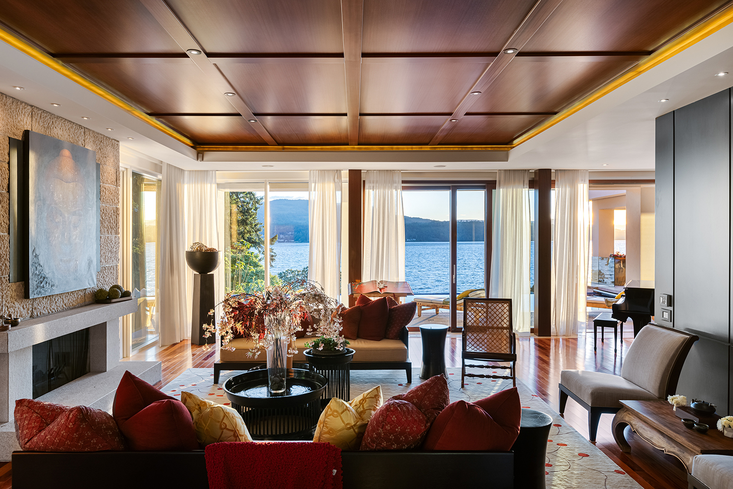 There are ocean and garden views from every room.