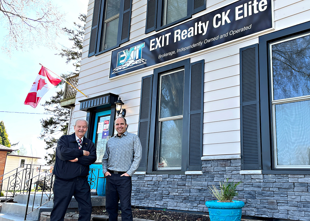Dale and Kirk Groombridge in front of their Chatham office.