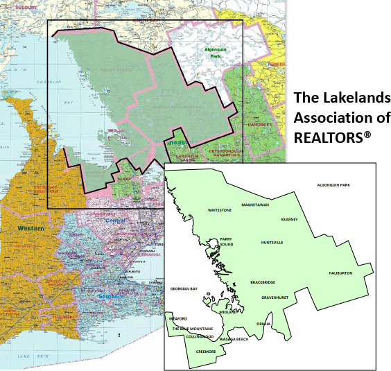 The area served by The Lakelands Association of Realtors